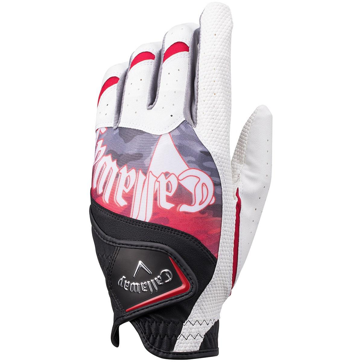 キャロウェイゴルフ Callaway Golf グラフィック グローブ 24cm 左手着用(右利き用) ホワイト/ブラック/レッド