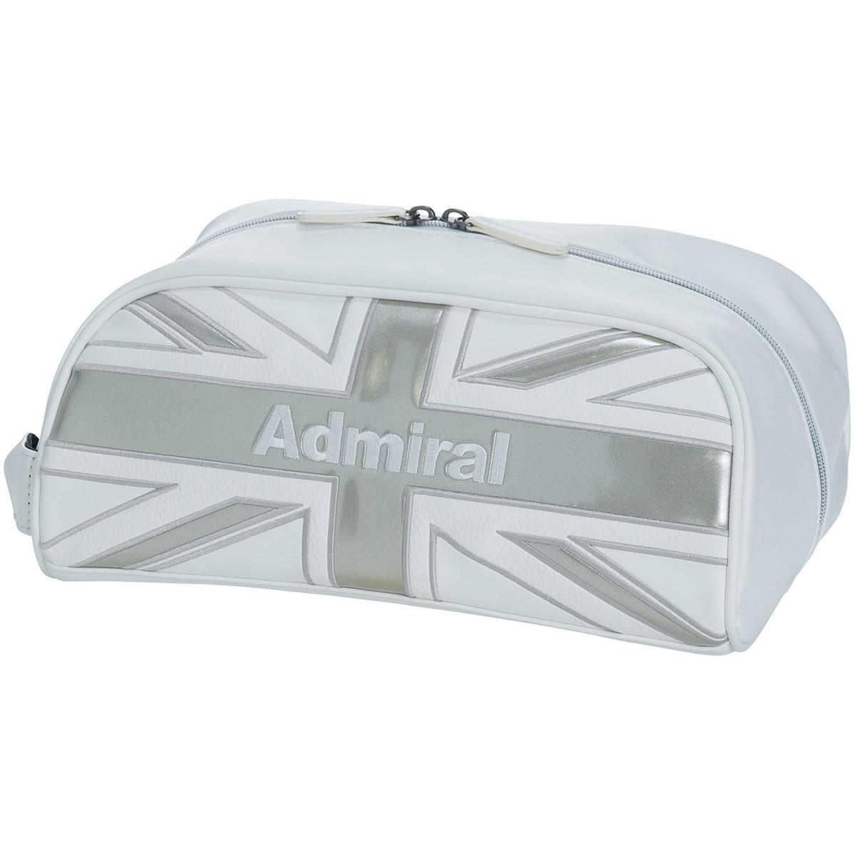 アドミラル Admiral キルティング シューズケース ホワイト 00