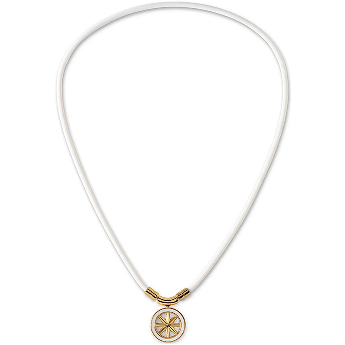 バンデル bandel アースファインネックレス 43cm ホワイト/ゴールド