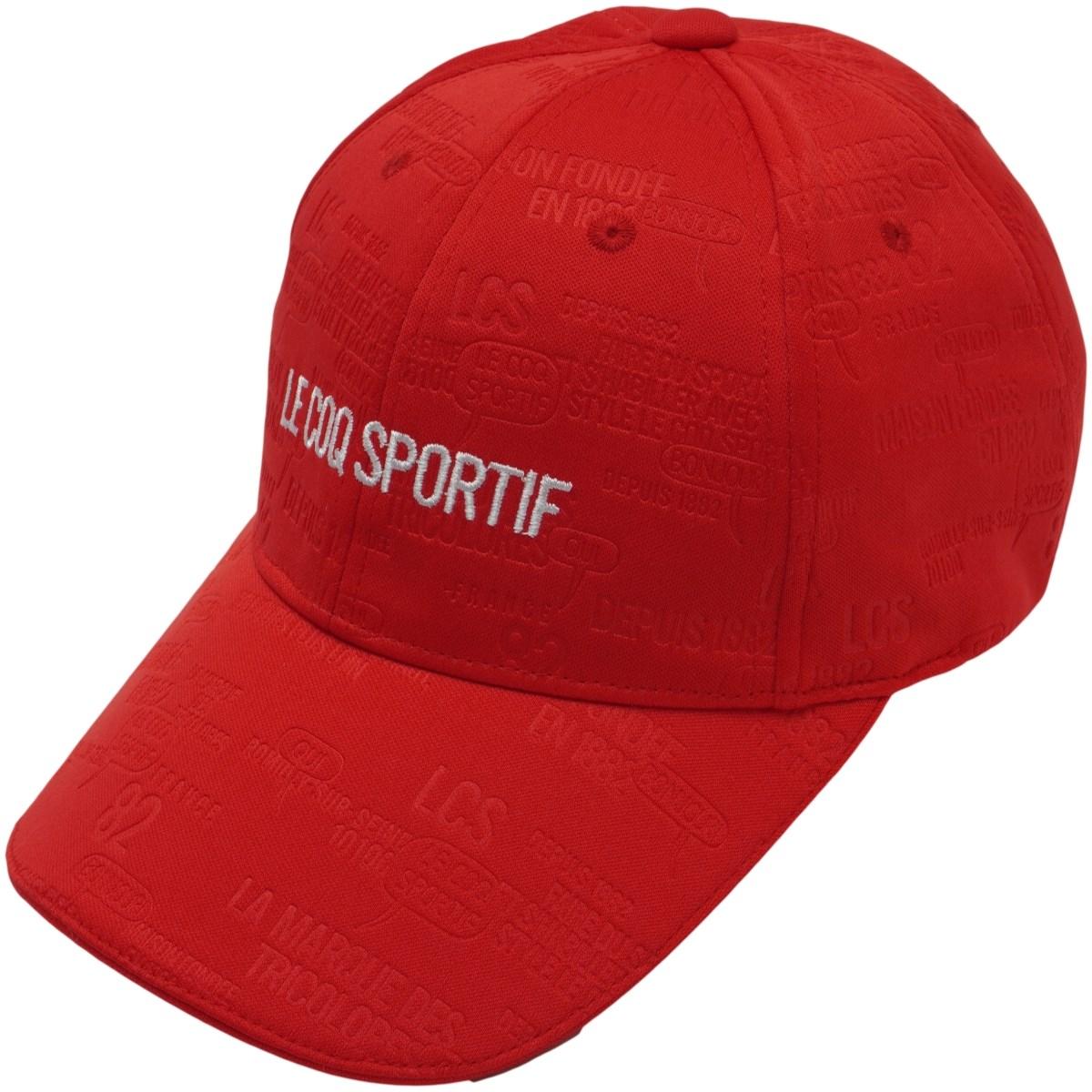 ルコックゴルフ Le coq sportif GOLF エンボスシンプルロゴキャップ フリー レッド 00 レディス