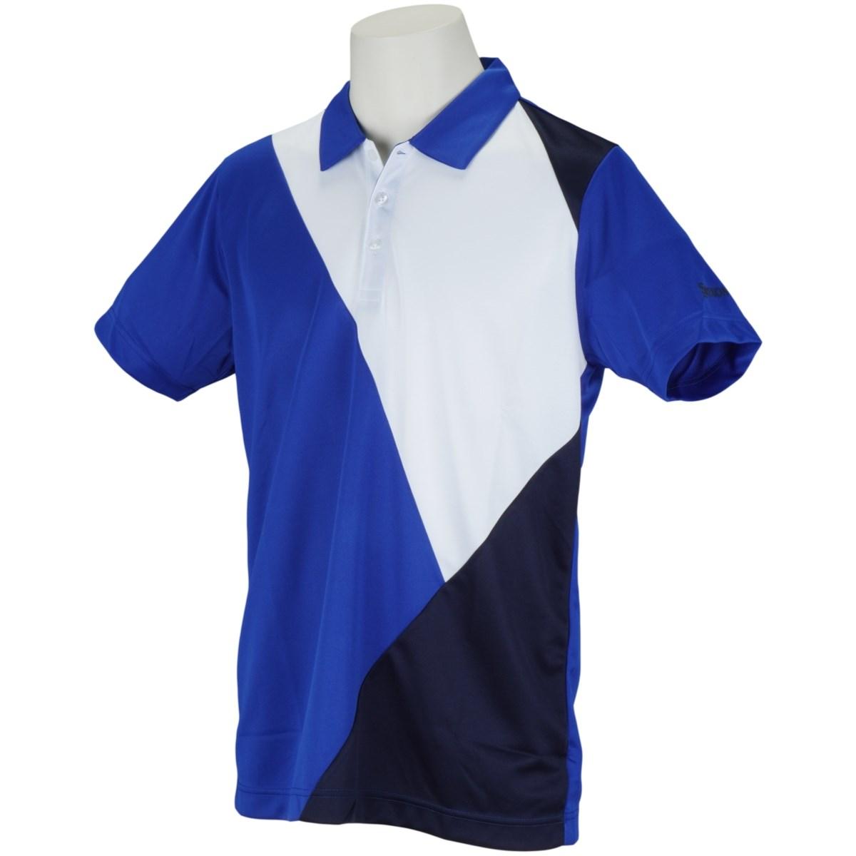 スリクソンゴルフ SRIXON バイアス切り替えトリコカラー半袖ポロシャツ L ブルー 00
