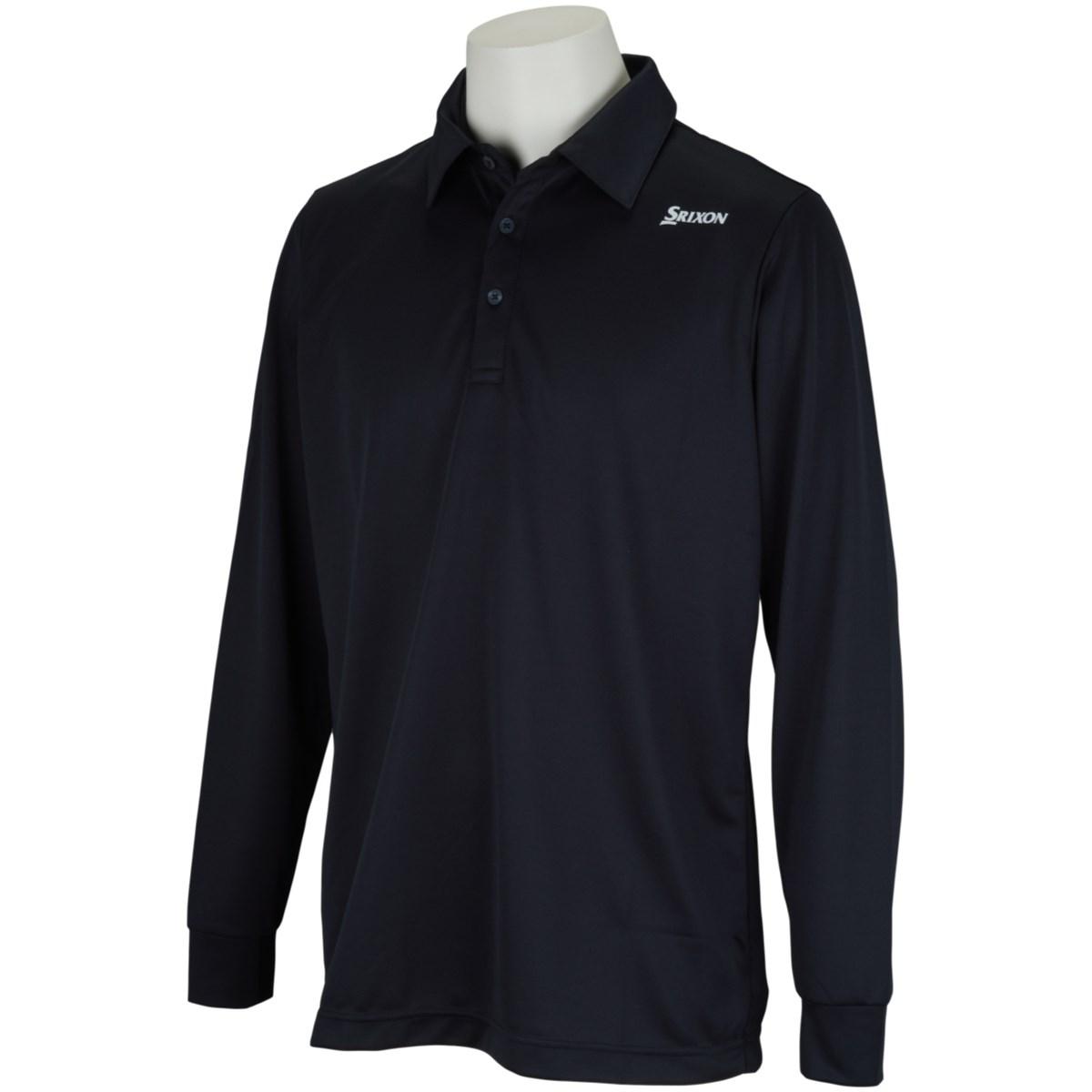 [2021年春夏モデル] スリクソンゴルフ 長袖ポロシャツ ブラック 00 メンズ ゴルフウェア