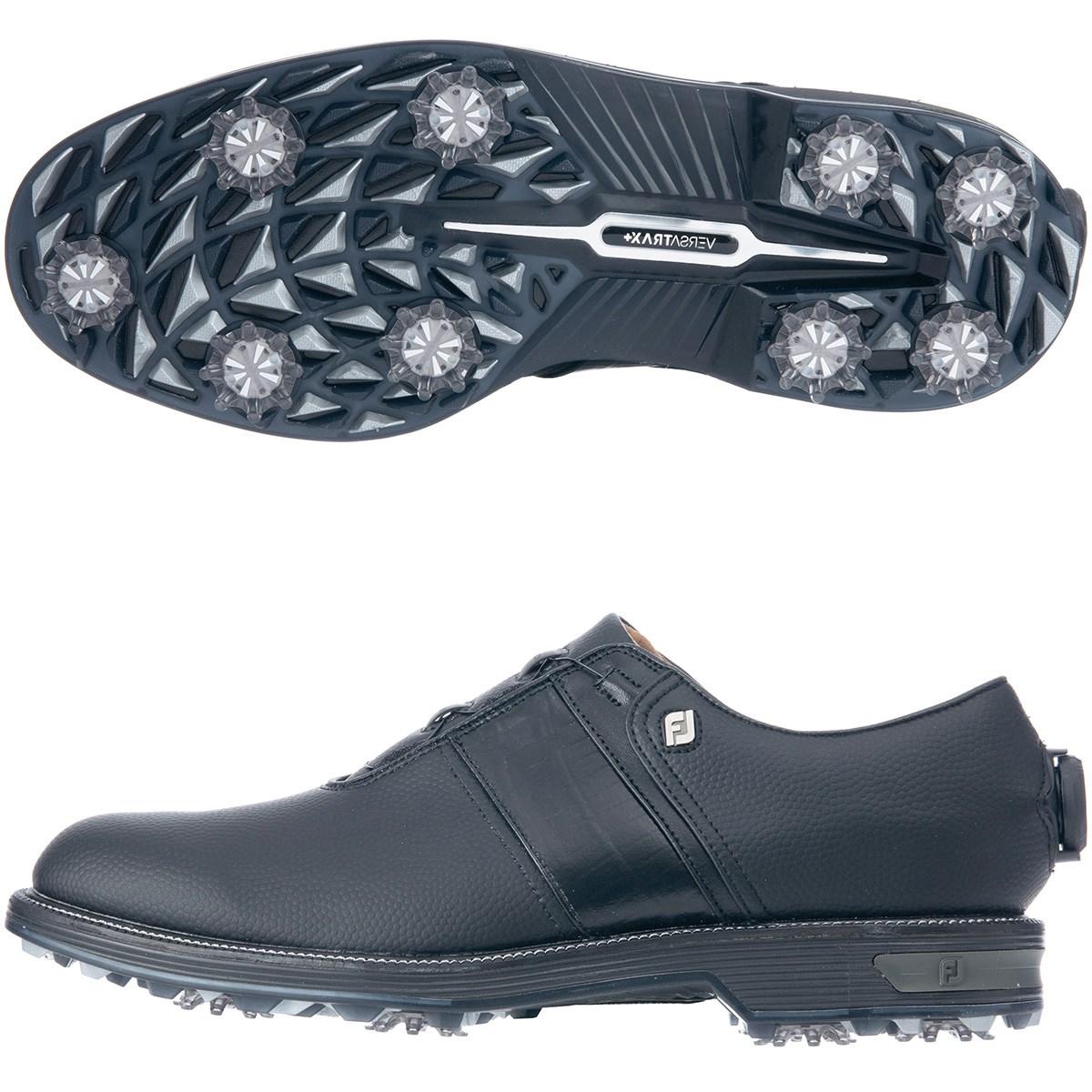 フットジョイ Foot Joy ドライジョイズ プレミア パッカード ボア シューズ 24.5cm ブラック/ブラック