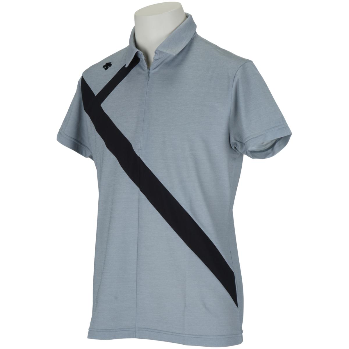 ECOアクセンシャルゼブラ鹿の子切り替え 半袖ポロシャツ