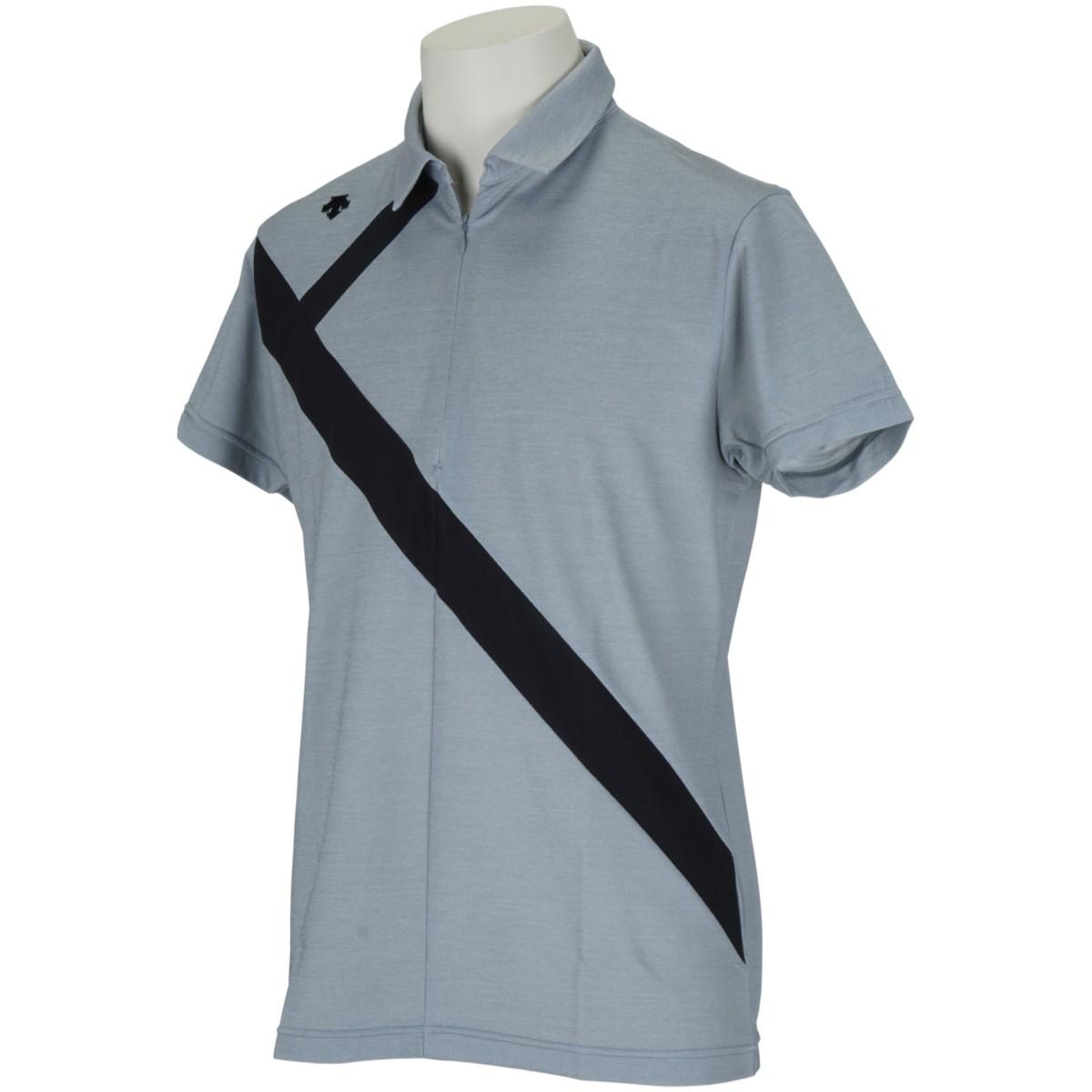 デサントゴルフ(DESCENTE GOLF) ECOアクセンシャルゼブラ鹿の子切り替え 半袖ポロシャツ