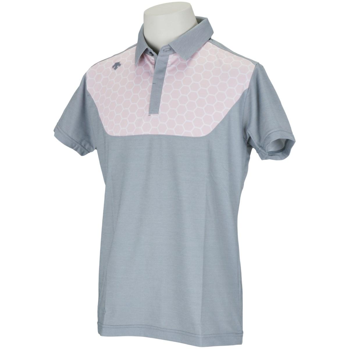 デサントゴルフ(DESCENTE GOLF) ECOアクセンシャルゼブラ鹿の子ISHIプリント 半袖ポロシャツ