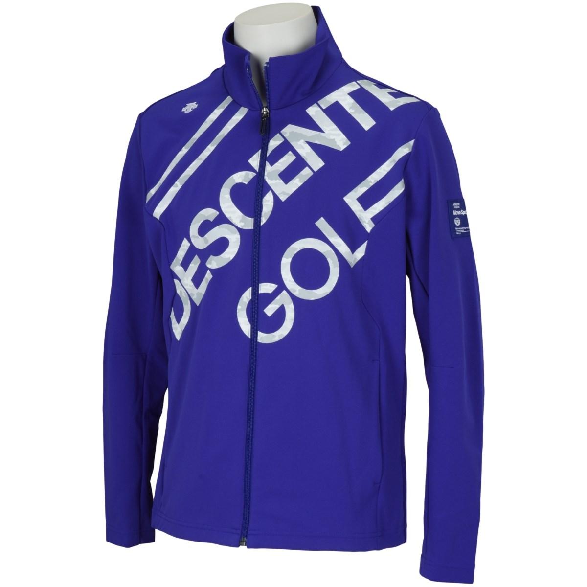 デサントゴルフ DESCENTE GOLF BLUE LABEL デルタカモフラロゴプリントジャージー ジャケット M ブルー 00