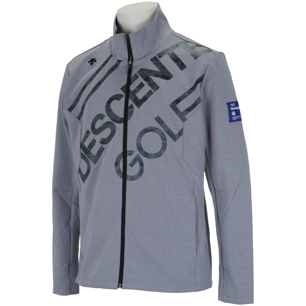 デサントゴルフ DESCENTE GOLF BLUE LABEL デルタカモフラロゴプリントジャージー ジャケット M グレー 00