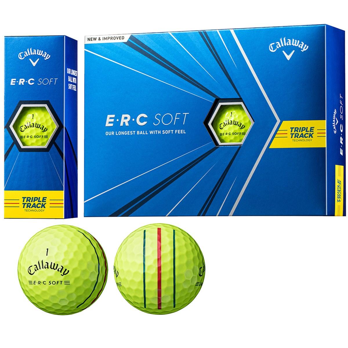 キャロウェイゴルフ E・R・C ERC SOFT 21 TRIPLE TRACKボール 1ダース(12個入り) イエロー