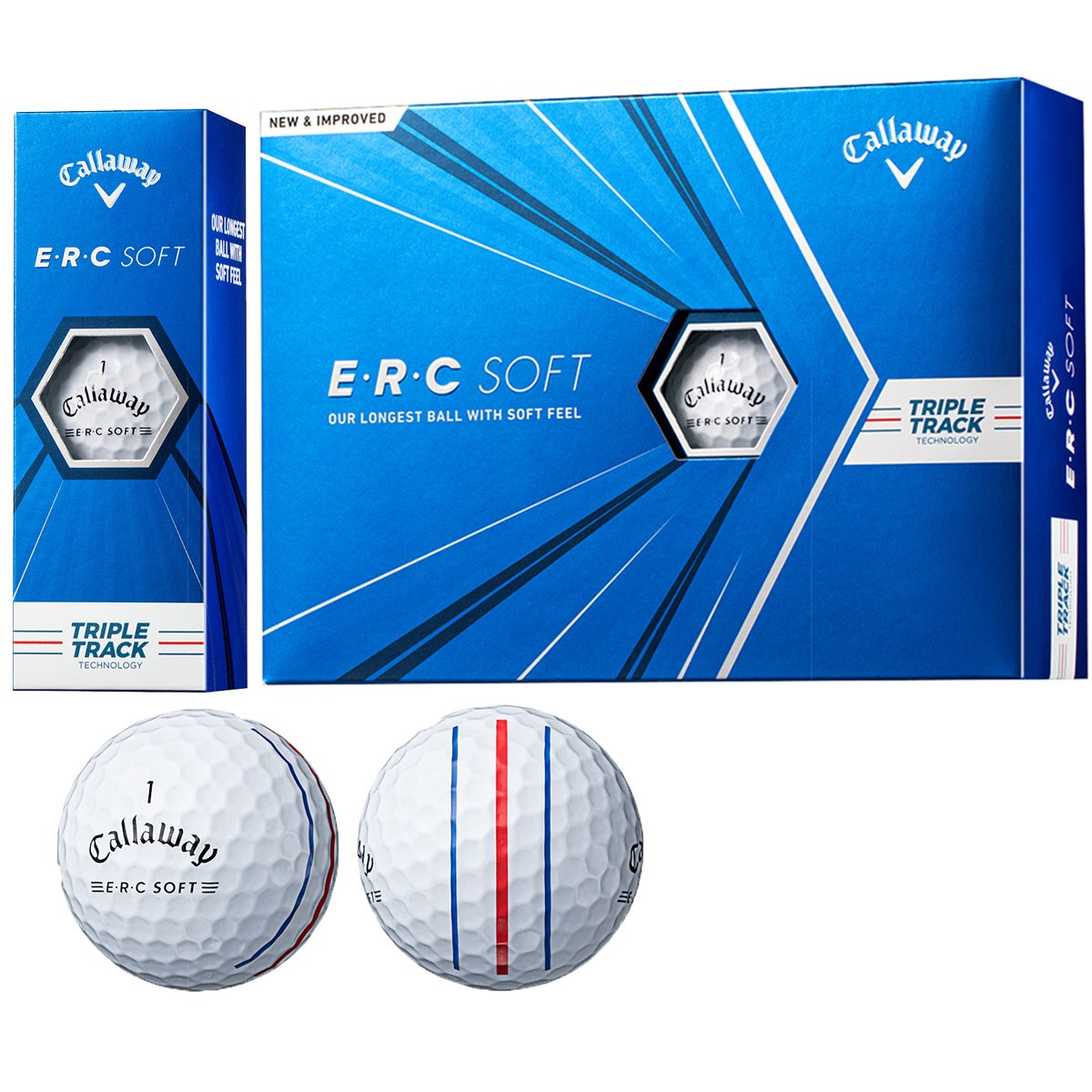 キャロウェイゴルフ(Callaway Golf) ERC SOFT 21 TRIPLE TRACKボール【2021年4月下旬発売予定】