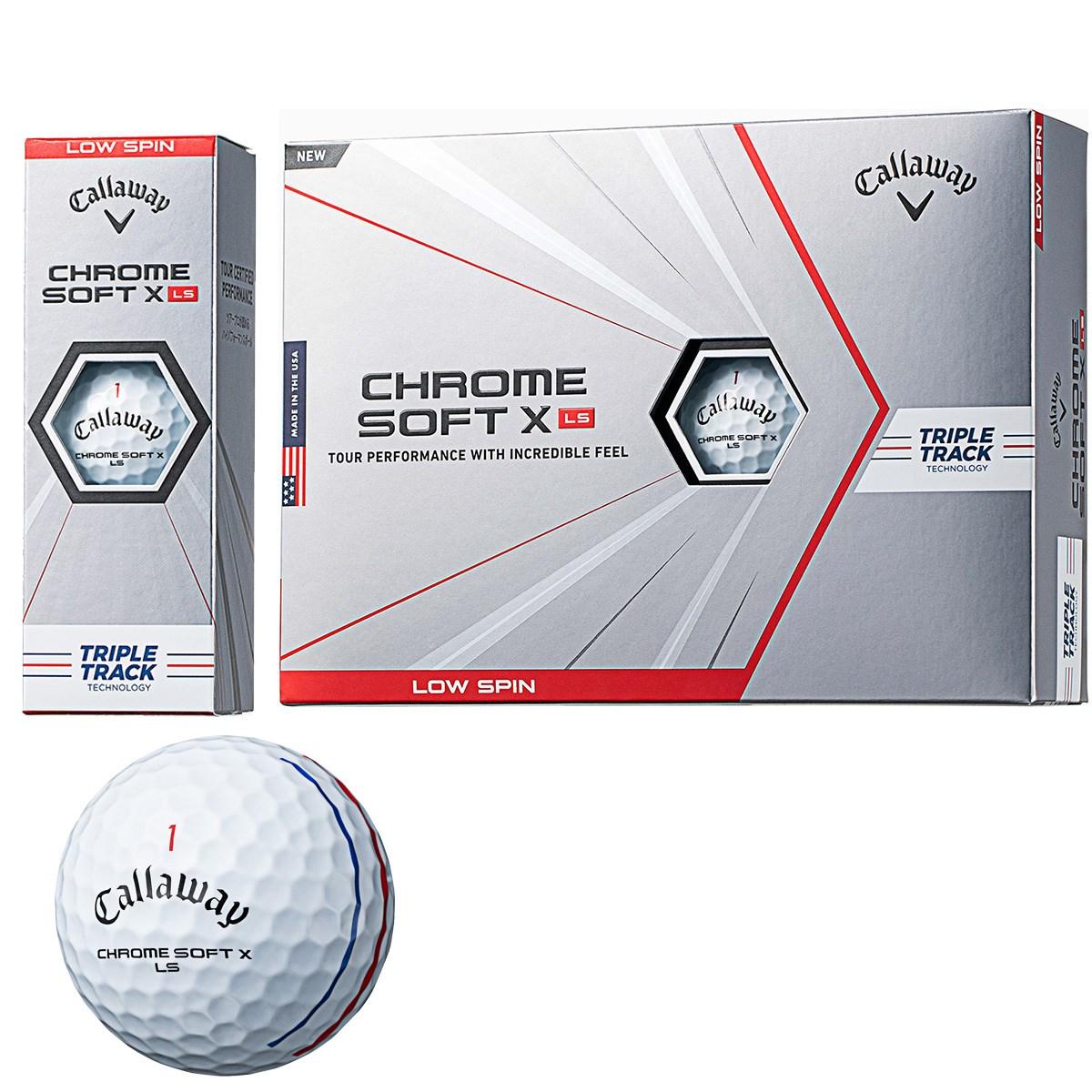 キャロウェイゴルフ CHROM SOFT CHROME SOFT X LS TRIPLE TRACK ボール 1ダース(12個入り) ホワイト