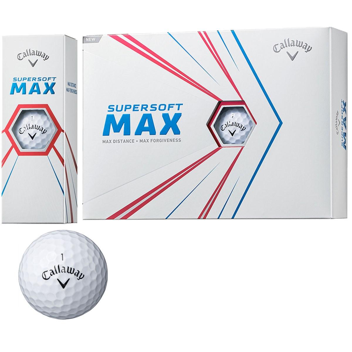 キャロウェイゴルフ SUPERSOFT SUPERSOFT MAX 21 ボール 1ダース(12個入り) ホワイト