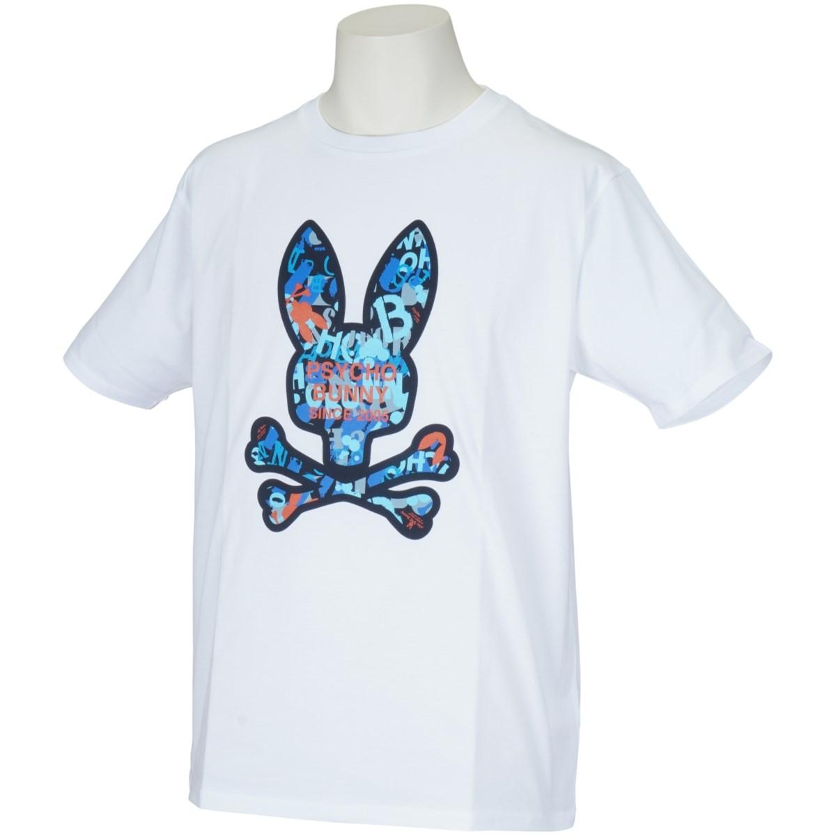 サイコバニー PSYCHO BUNNY グラフィティプリントロゴ半袖Tシャツ M ホワイト