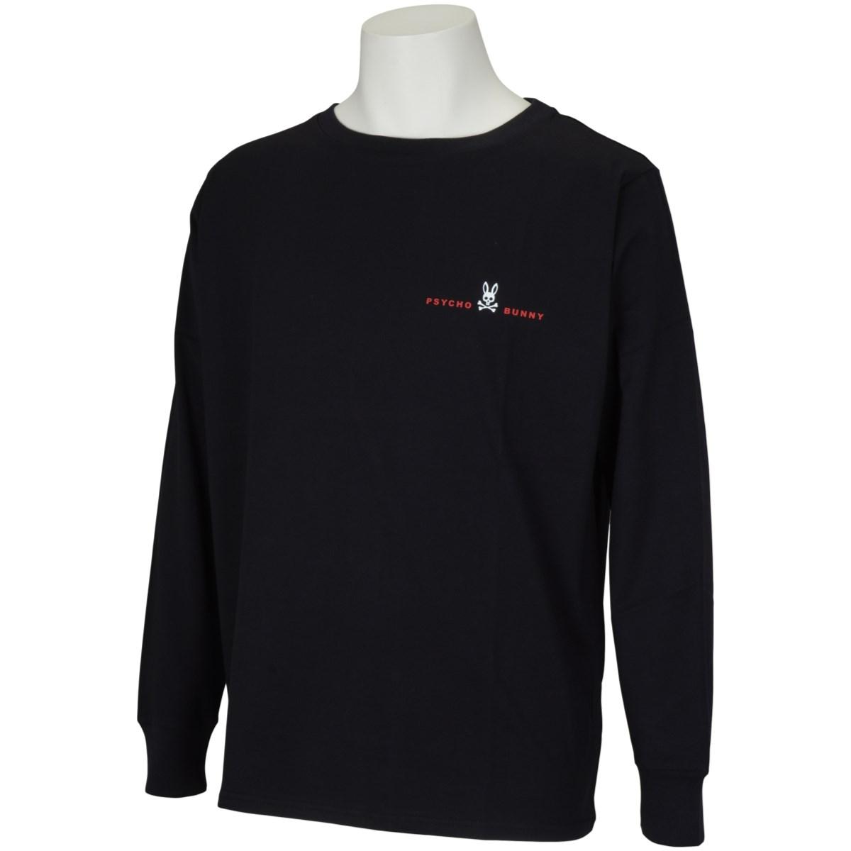 サイコバニー PSYCHO BUNNY ベーシックロゴ長袖Tシャツ M ブラック