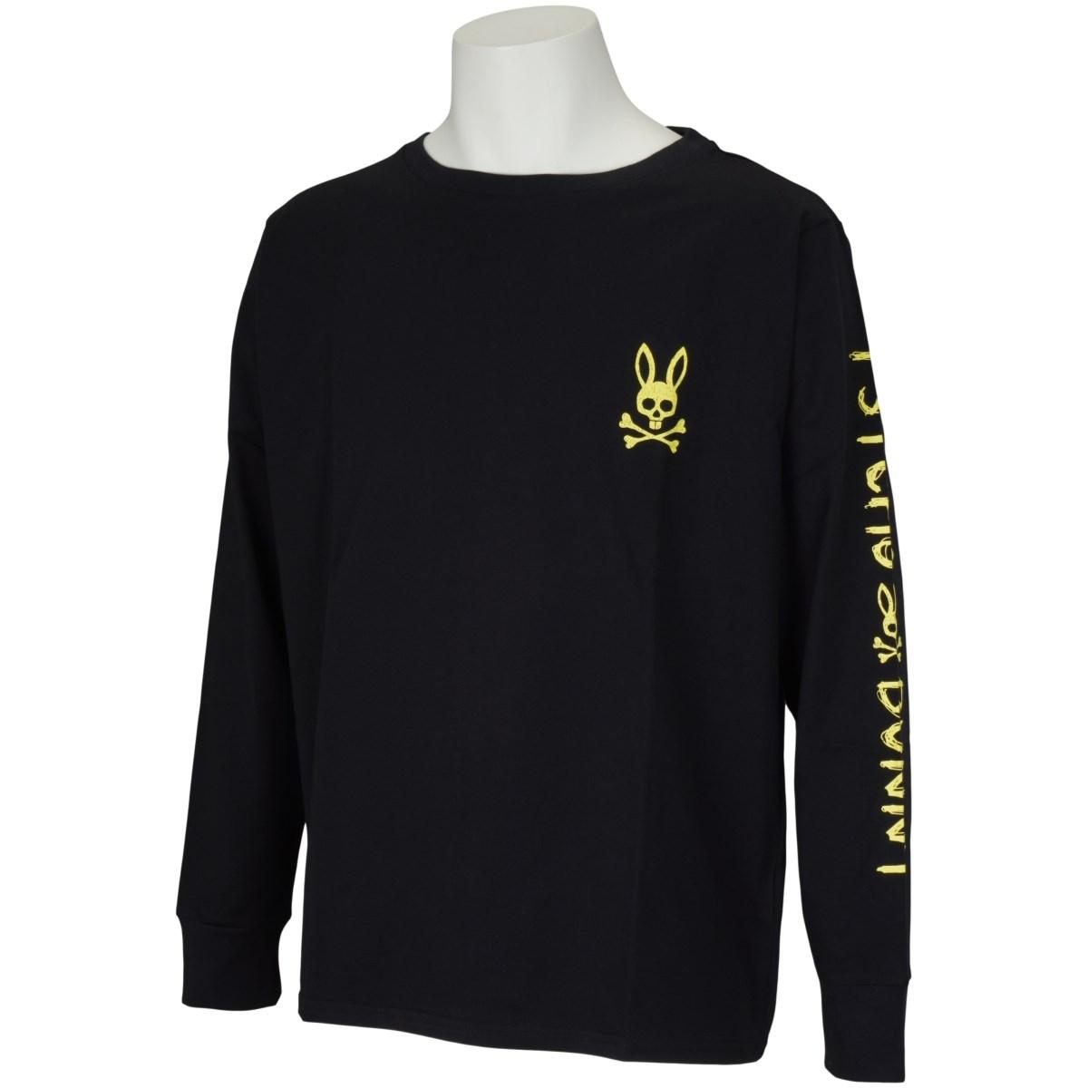 サイコバニー PSYCHO BUNNY ハンドライトロゴ長袖Tシャツ M ブラック