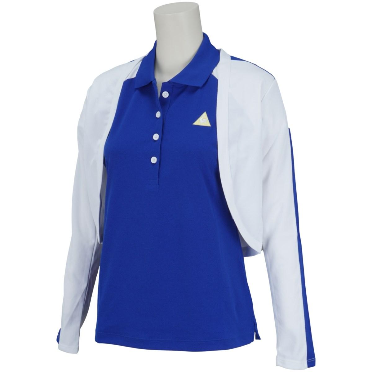 ルコックゴルフ Le coq sportif GOLF ボレロ付き 半袖ポロシャツ S ブルー 00 レディス