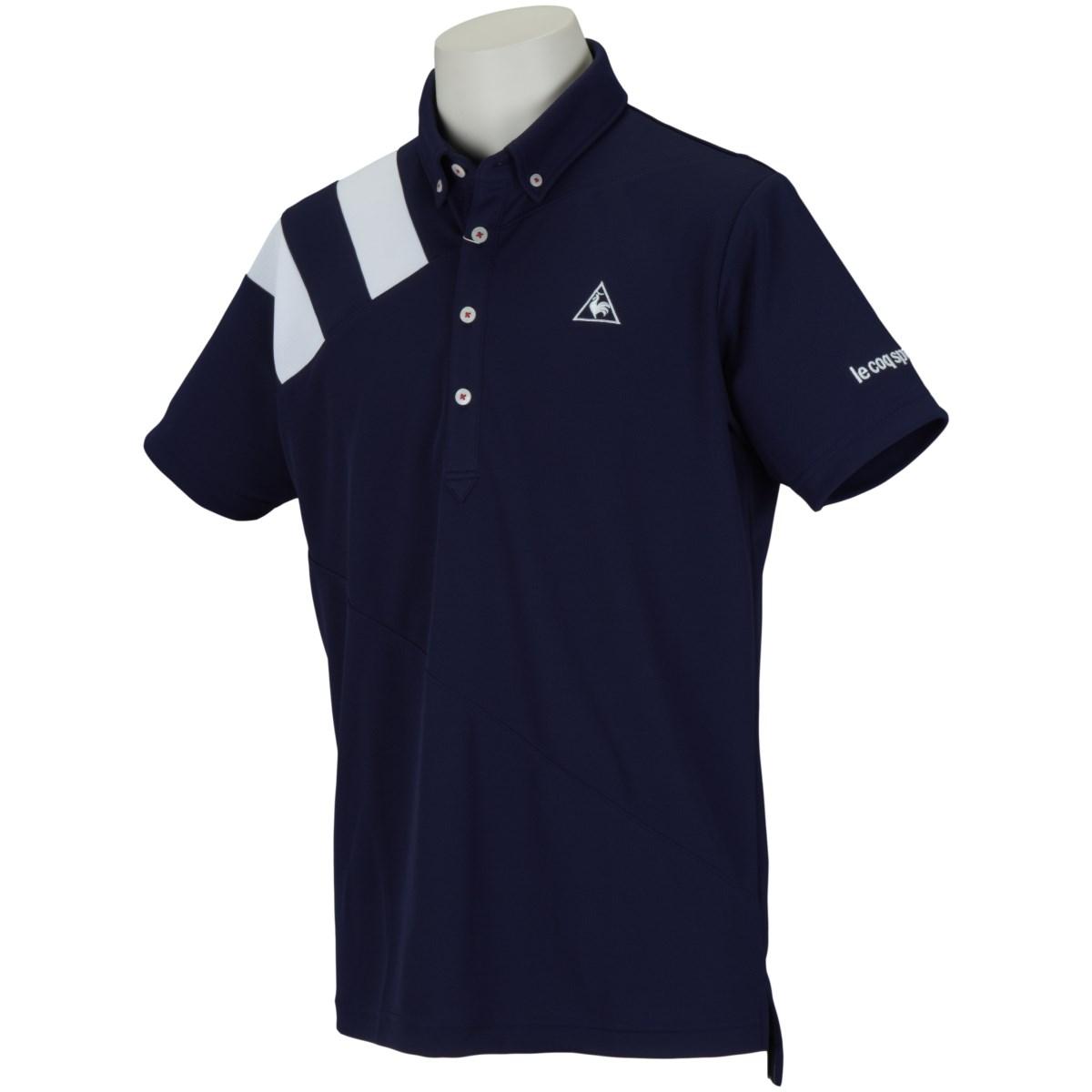 ルコックゴルフ Le coq sportif GOLF ボタンダウン半袖ポロシャツ M ネイビー 00