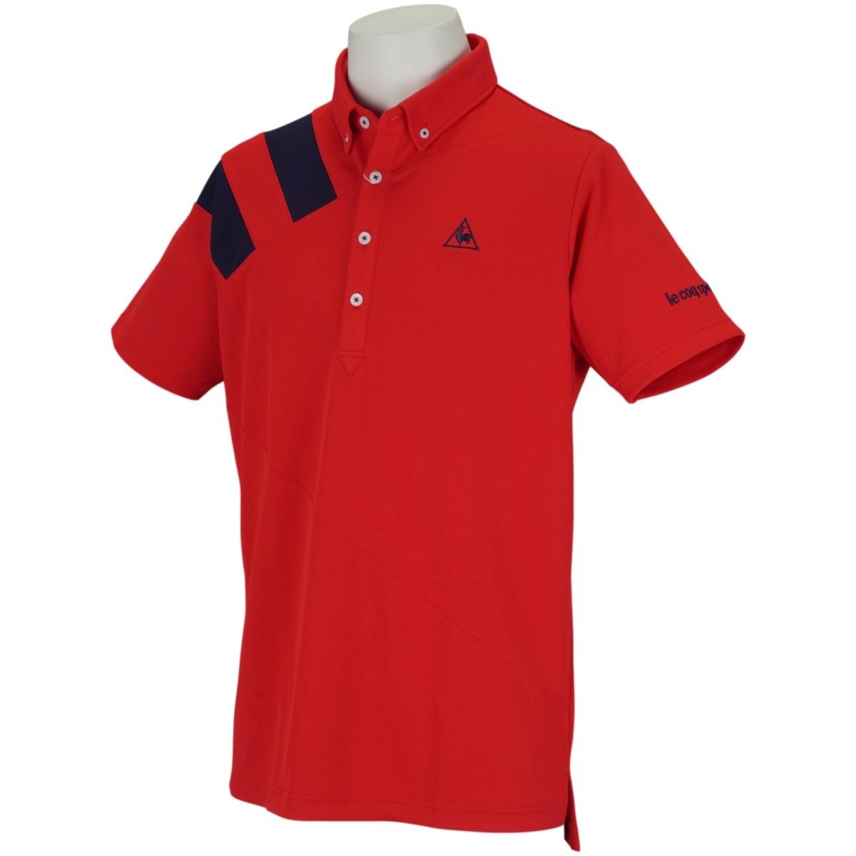 ルコックゴルフ Le coq sportif GOLF ボタンダウン半袖ポロシャツ LL レッド 00