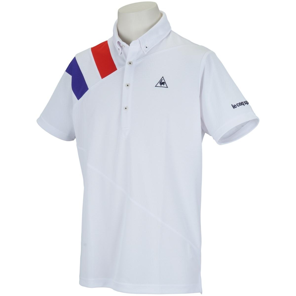 ルコックゴルフ Le coq sportif GOLF ボタンダウン半袖ポロシャツ M ホワイト 00