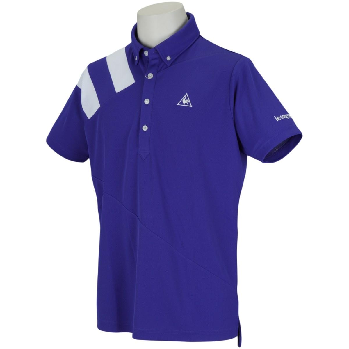 ルコックゴルフ Le coq sportif GOLF ボタンダウン半袖ポロシャツ M ブルー 00