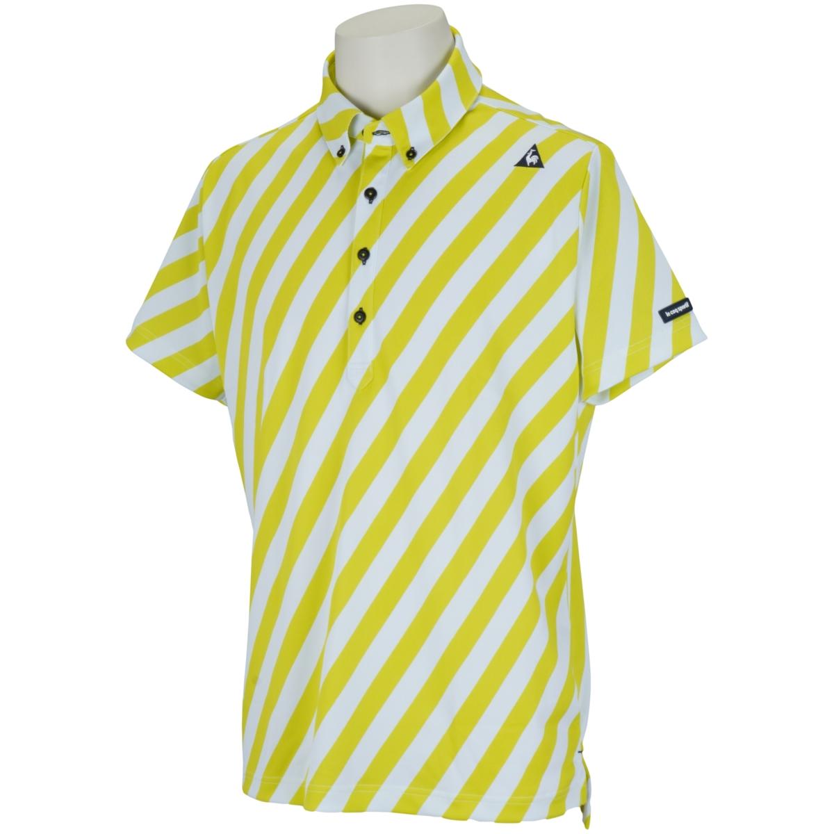 ストライプ柄半袖ポロシャツ
