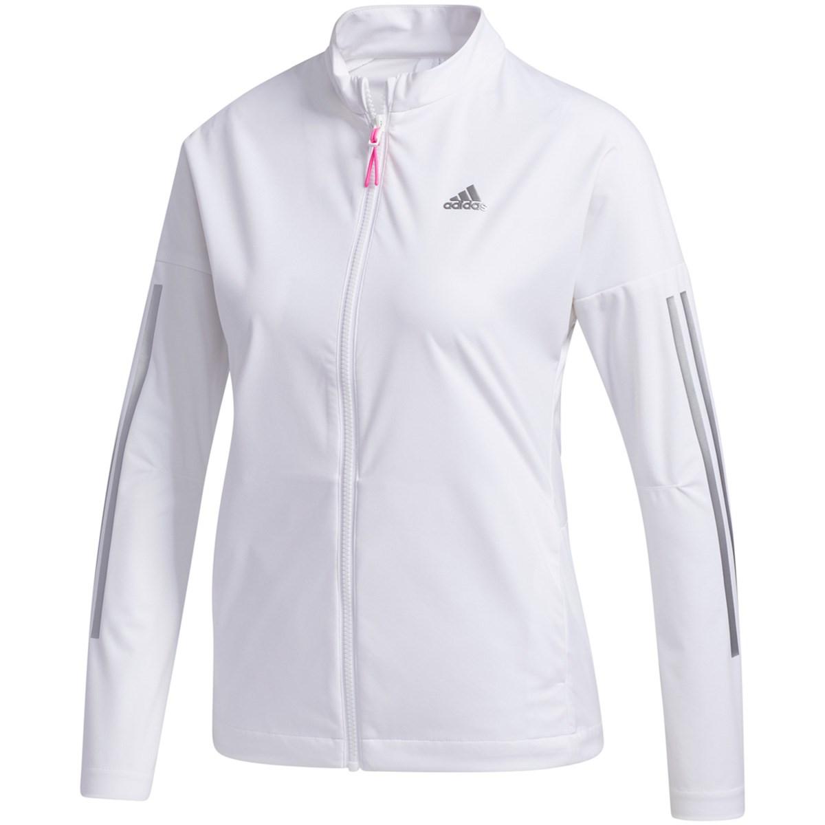 アディダス Adidas スリーレイヤー 長袖ストレッチフルジップウインドジャケット J/OT ホワイト レディス