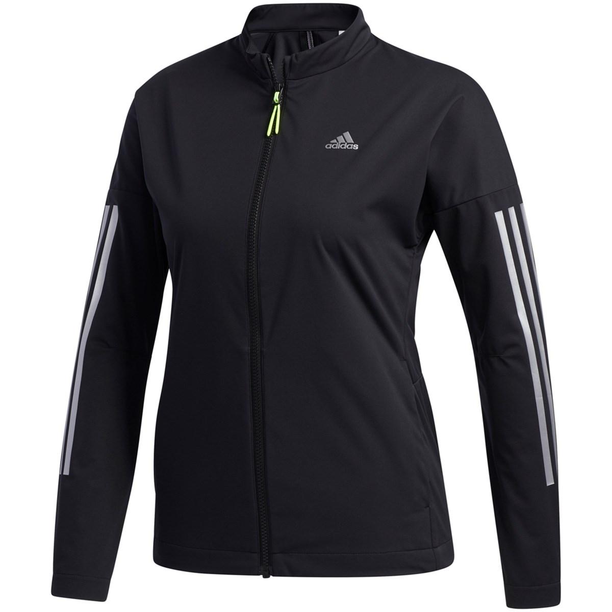 アディダス Adidas スリーレイヤー 長袖ストレッチフルジップウインドジャケット J/OT ブラック レディス