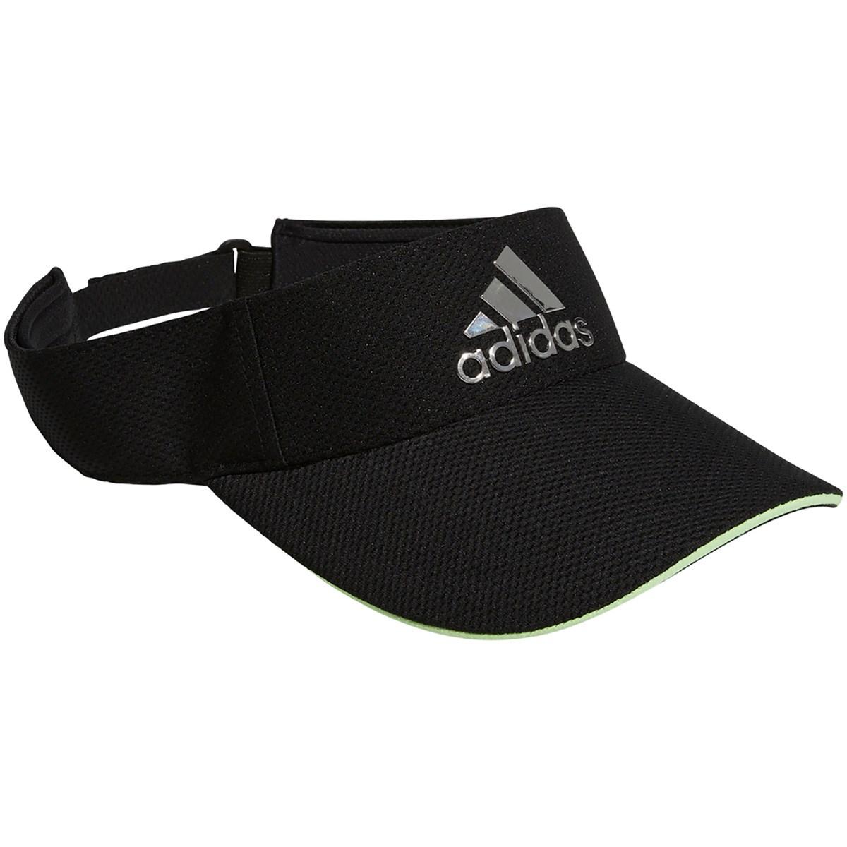 アディダス Adidas メタルロゴサンバイザー フリー ブラック/シルバーメタリック