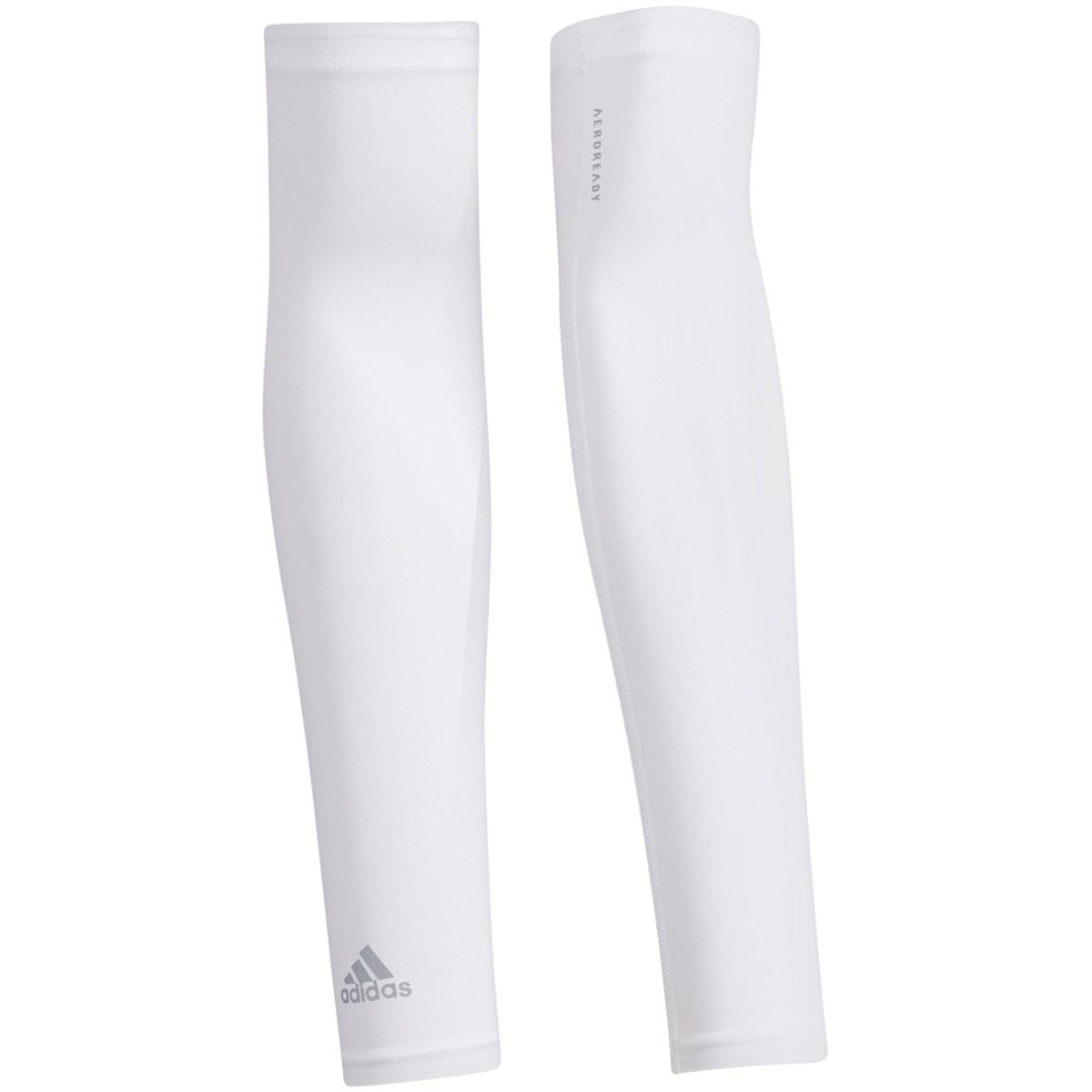 アディダス Adidas UV アームカバー ホワイト フリー