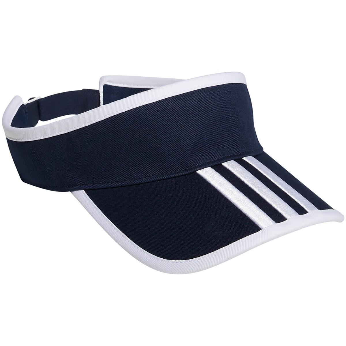 アディダス Adidas スリーストライプツイルサンバイザー フリー カレッジネイビー レディス