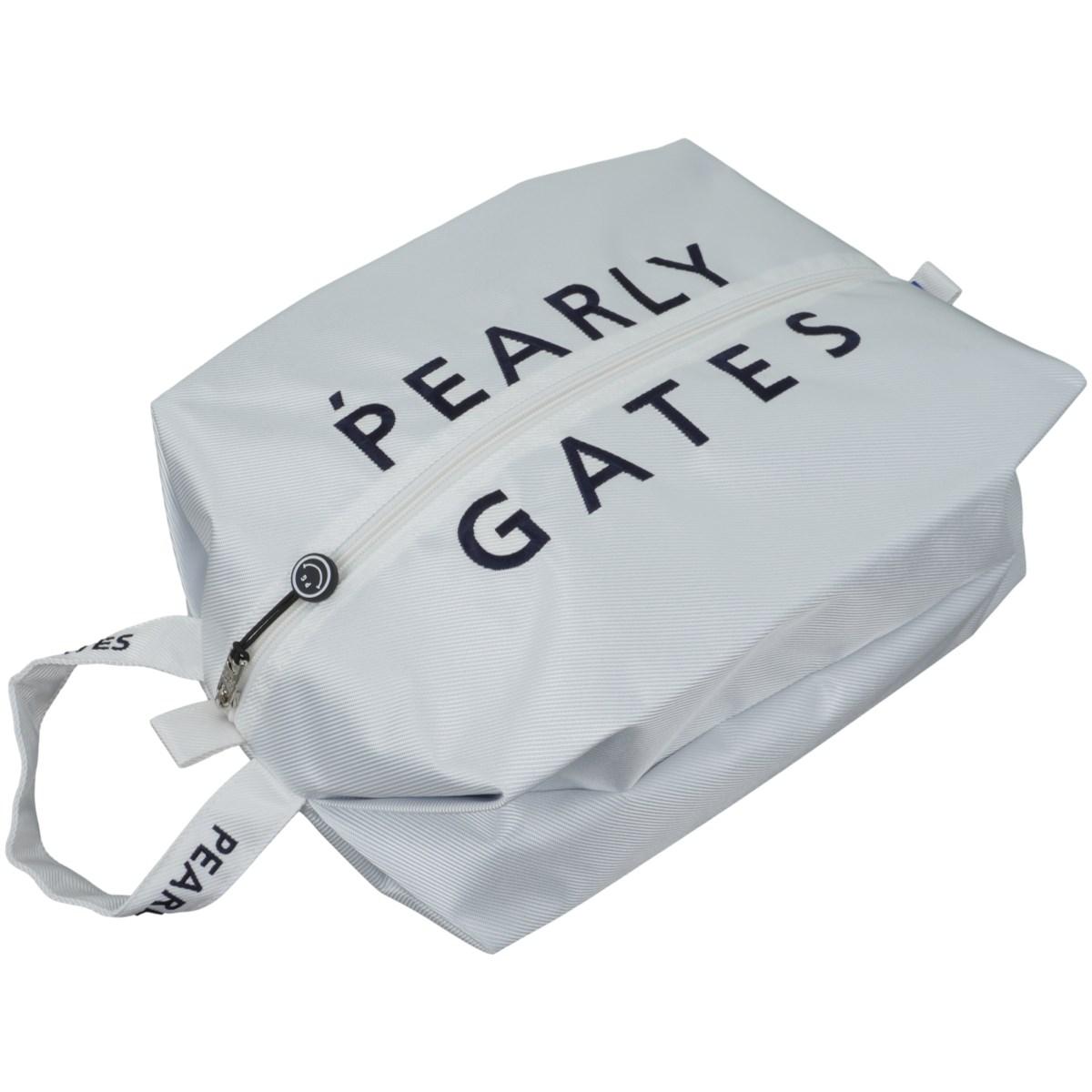 [定番モデル] パーリーゲイツ PEARLY GATES シューズケース ホワイト 030 メンズ ゴルフ