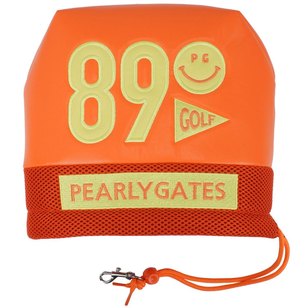 [定番モデル] パーリーゲイツ PEARLY GATES 合皮アイアンカバー オレンジ 150 メンズ ゴルフ