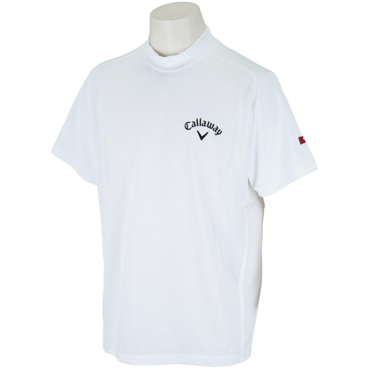 キャロウェイゴルフ CALLAWAY RED LABEL 半袖ハイネックシャツ M ホワイト 030