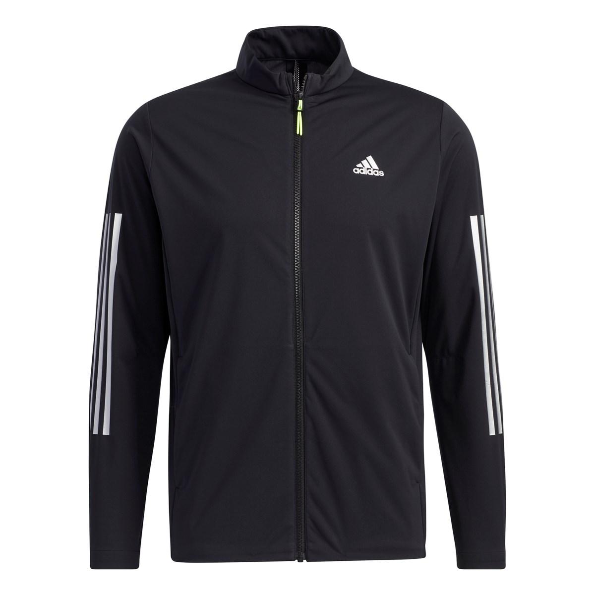 アディダス Adidas スリーレイヤー ストレッチ長袖フルジップウインドジャケット J/M ブラック