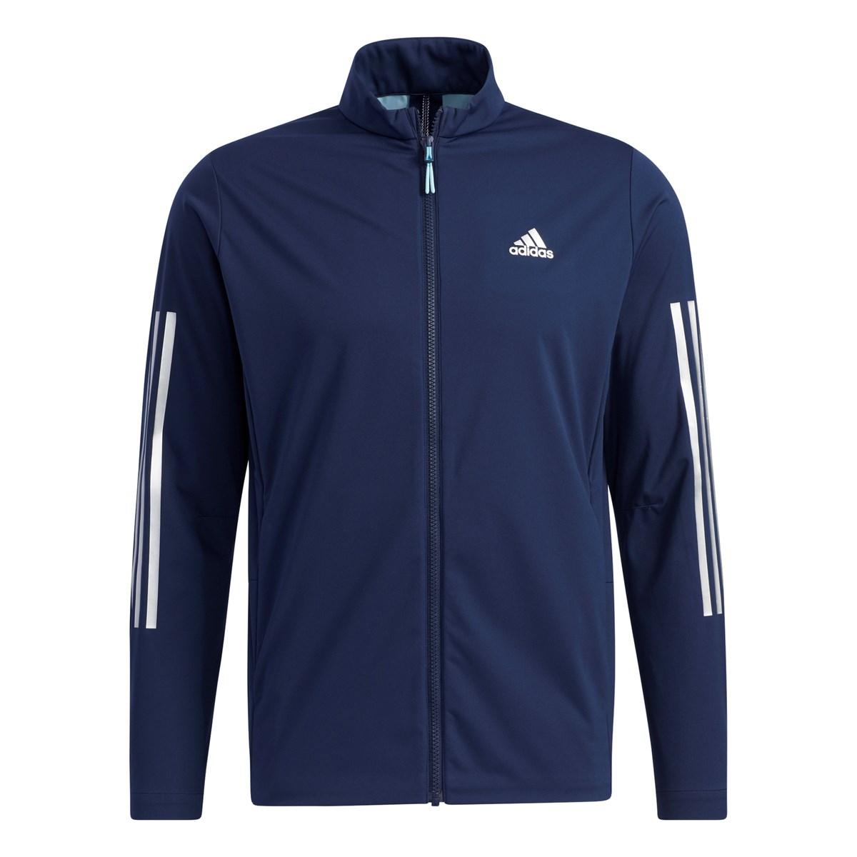アディダス Adidas スリーレイヤー ストレッチ長袖フルジップウインドジャケット J/M カレッジネイビー