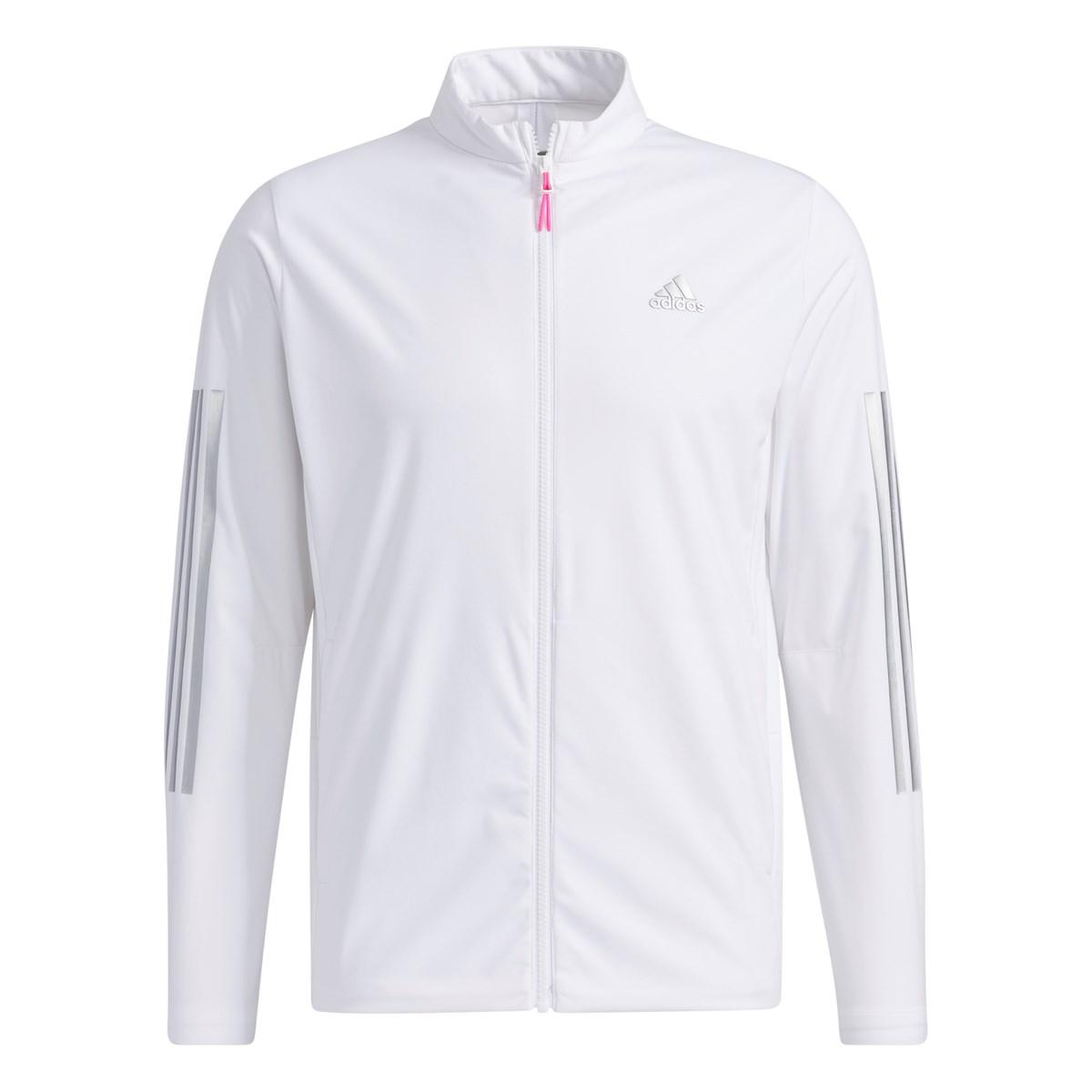 アディダス Adidas スリーレイヤー ストレッチ長袖フルジップウインドジャケット J/L ホワイト