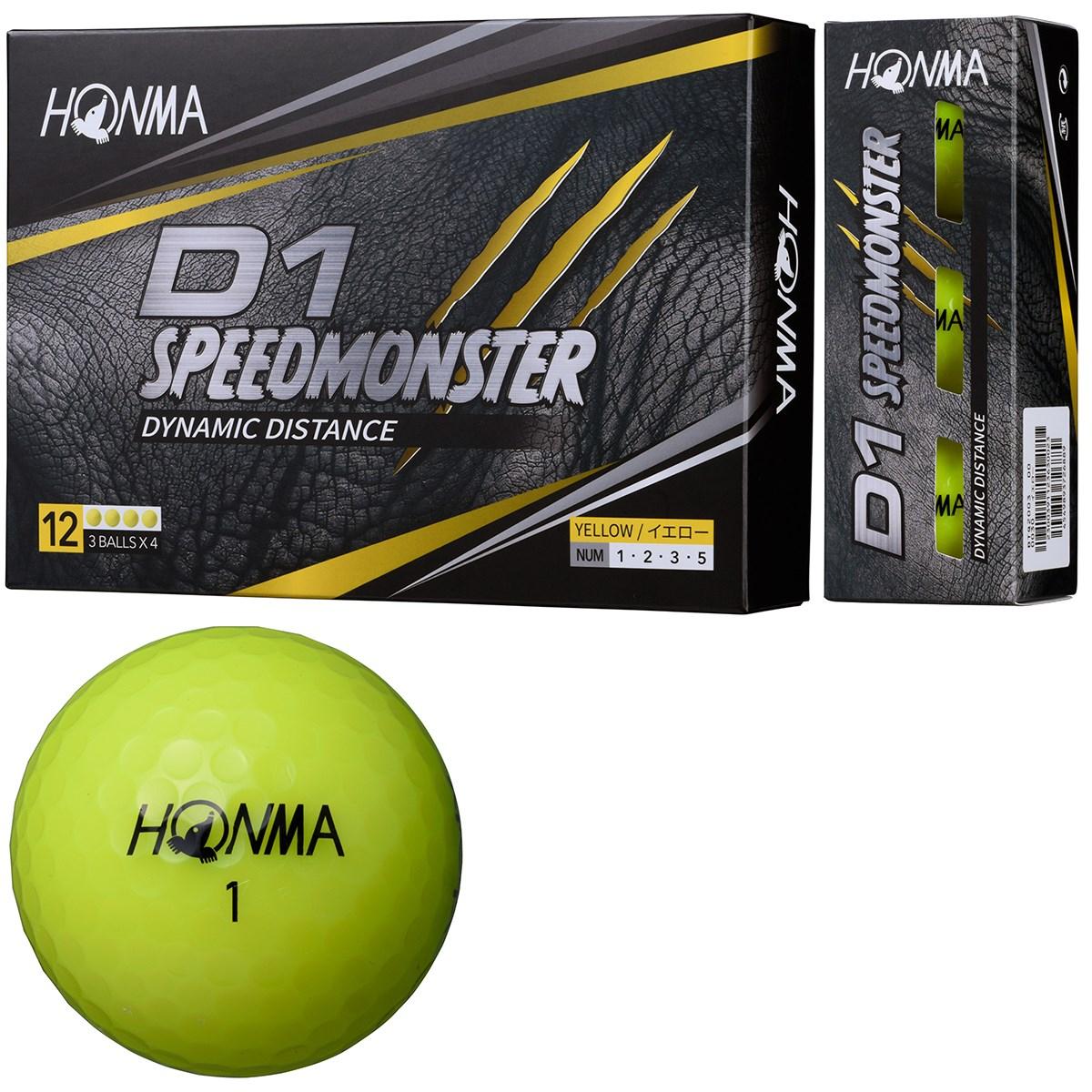 本間ゴルフ HONMA D1 スピードモンスター ボール 1ダース(12個入り) イエロー
