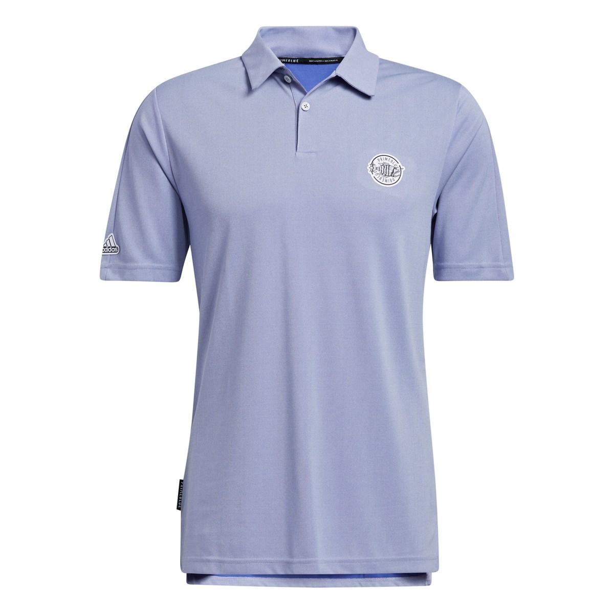 アディダス Adidas PRIMEBLUE エンブレム 半袖ポロシャツ J/S ホワイト/セミナイトFLアッシュ