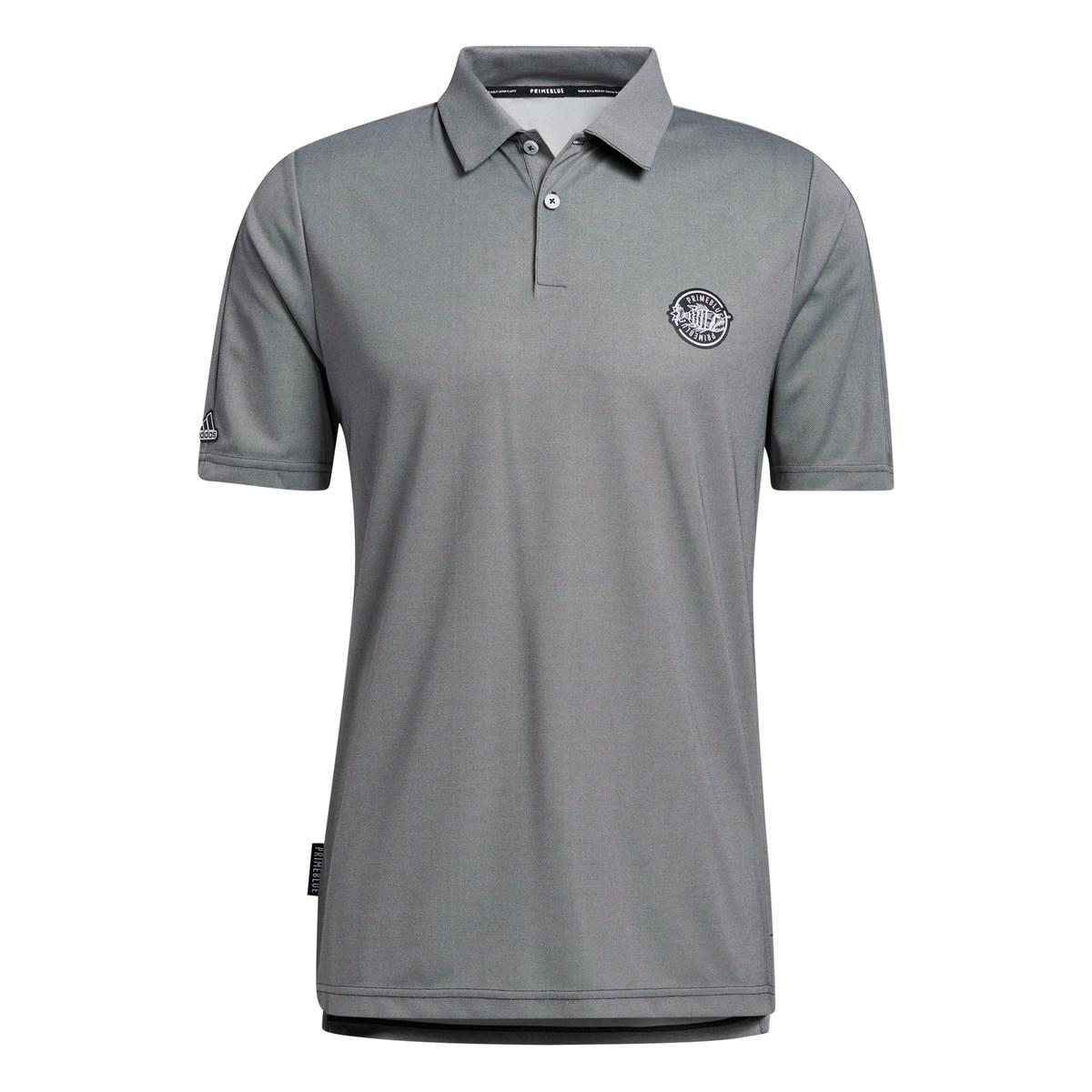 アディダス Adidas PRIMEBLUE エンブレム 半袖ポロシャツ J/S ブラック/ホワイト