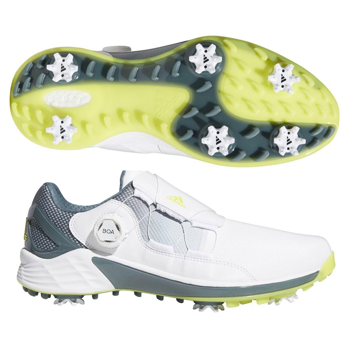 アディダス Adidas ゼッドジー21ボアシューズ 27.5cm フットウェアホワイト/アシッドイエロー/ブルーオキサイド