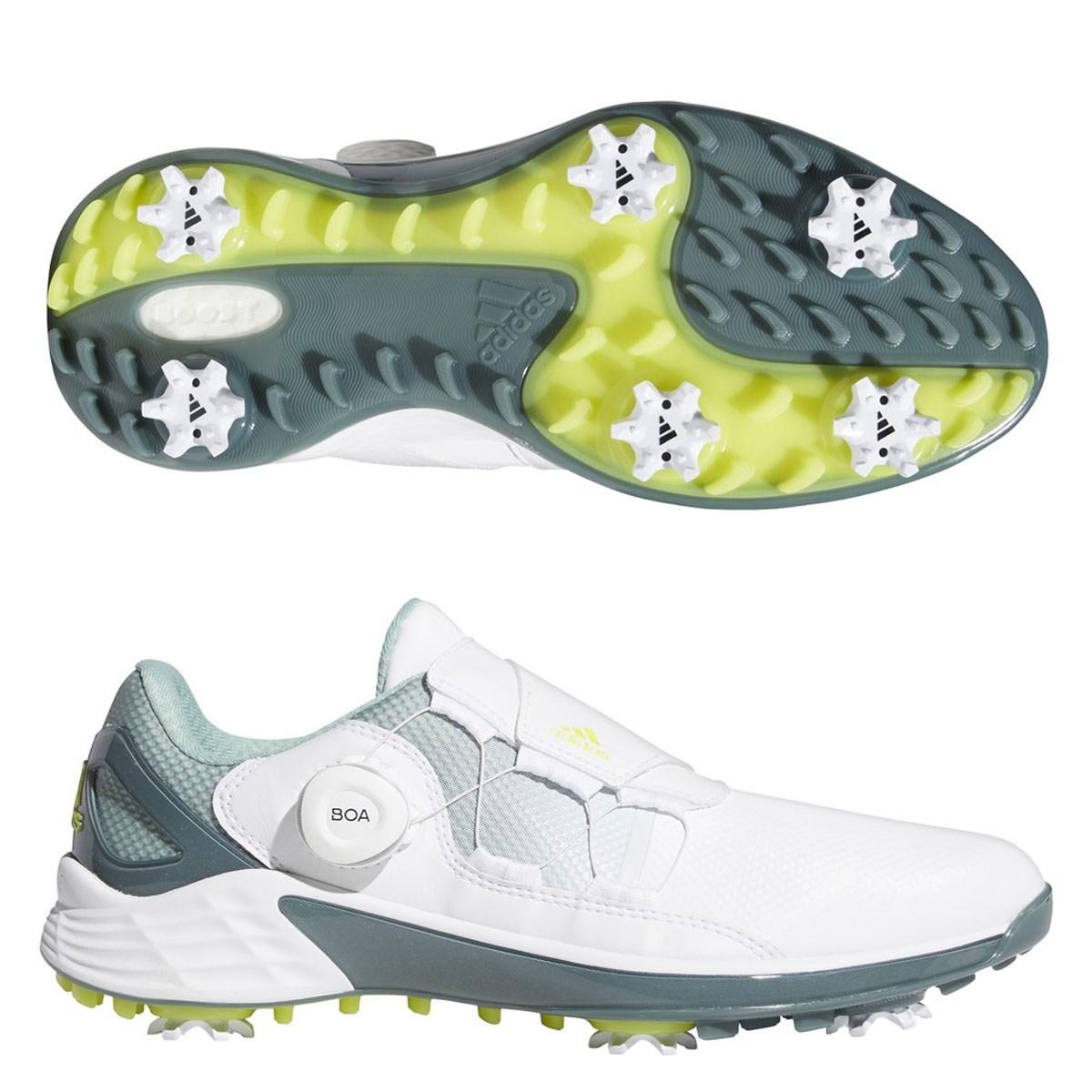アディダス Adidas ゼッドジー21ボアシューズ 24cm フットウェアホワイト/アシッドイエロー/ヘイジーグリーン レディス