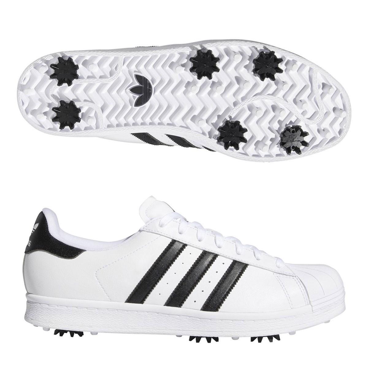アディダス Adidas ORIGINALS SS GOLFシューズ 26.5cm フットウェアホワイト/コアブラック/ゴールドメタリック