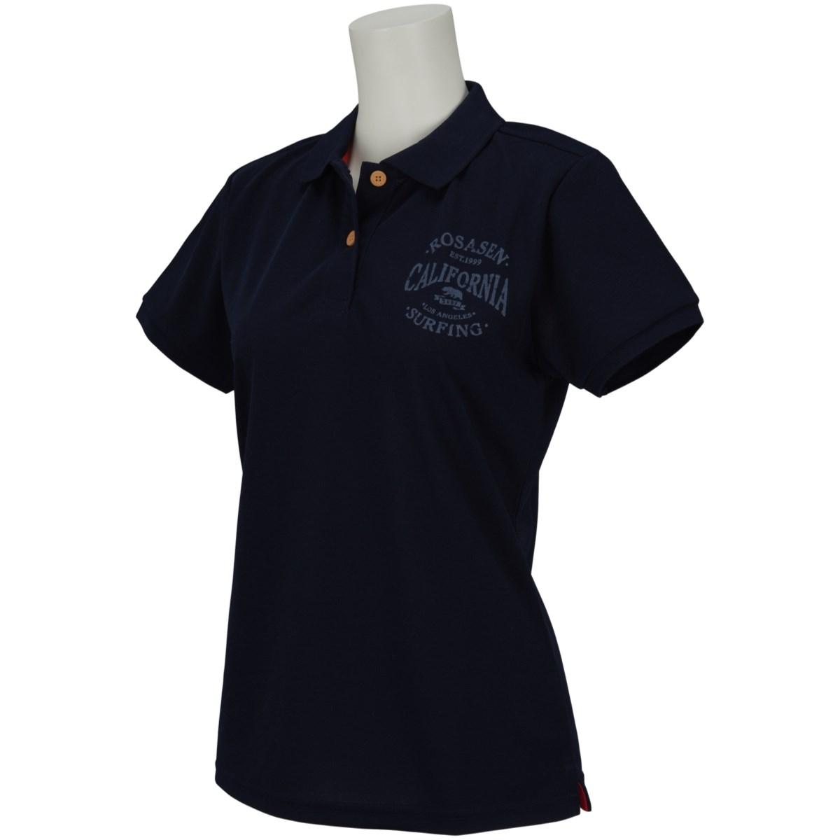 ロサーセン ROSASEN 鹿の子半袖ポロシャツ 42(L) ネイビー 098 レディス
