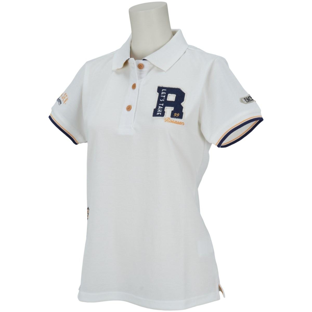 ロサーセン ROSASEN 鹿の子ロゴ盛り半袖ポロシャツ 40(M) オフホワイト 005 レディス