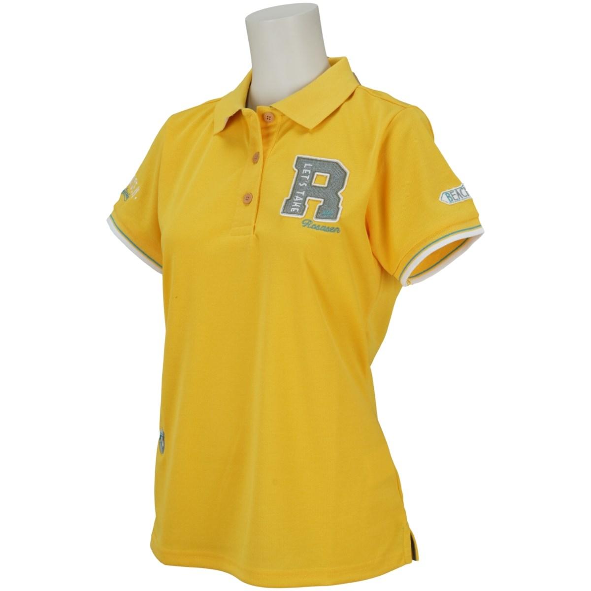 ロサーセン ROSASEN 鹿の子ロゴ盛り半袖ポロシャツ 40(M) イエロー 033 レディス