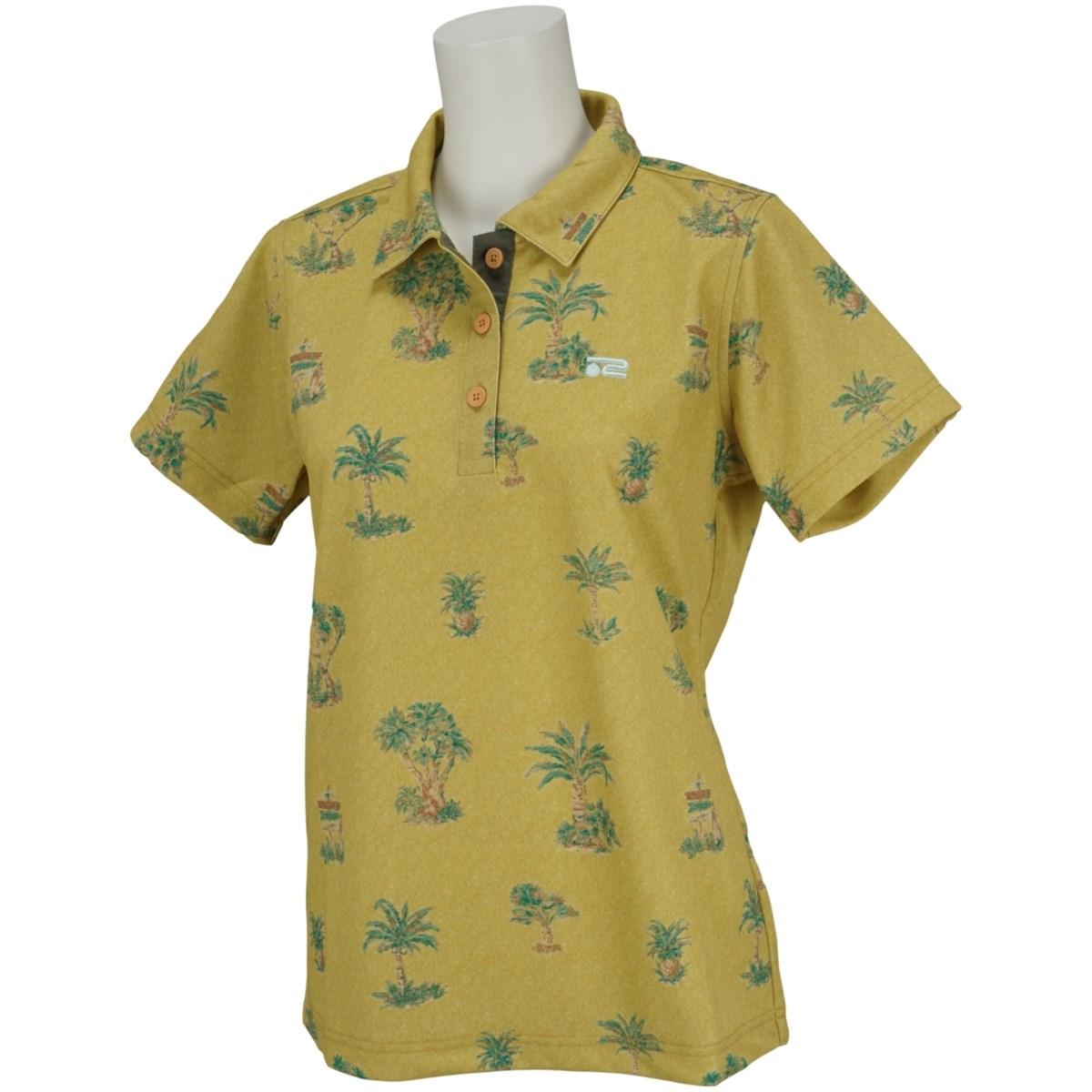 ロサーセン ROSASEN ドライステータスプリント半袖ポロシャツ 40(M) ベージュ 054 レディス