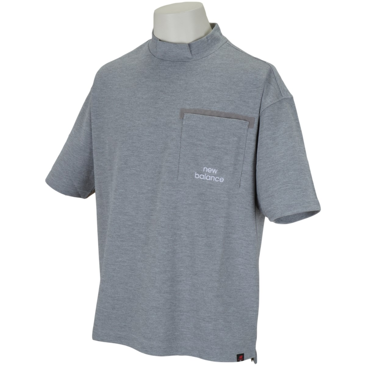ニューバランス New Balance METRO 半袖モックネックシャツ 4 グレー