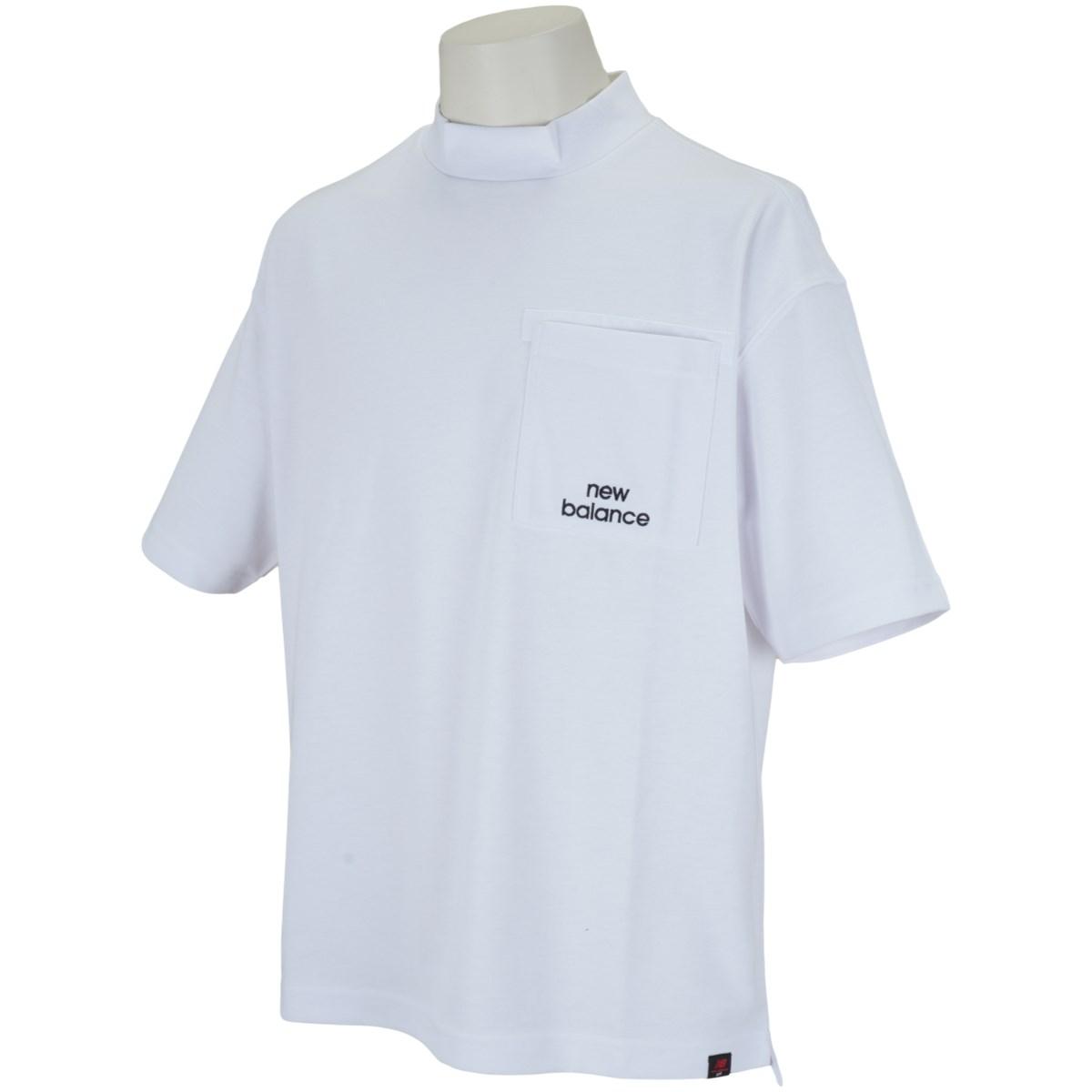 ニューバランス New Balance METRO 半袖モックネックシャツ M ホワイト