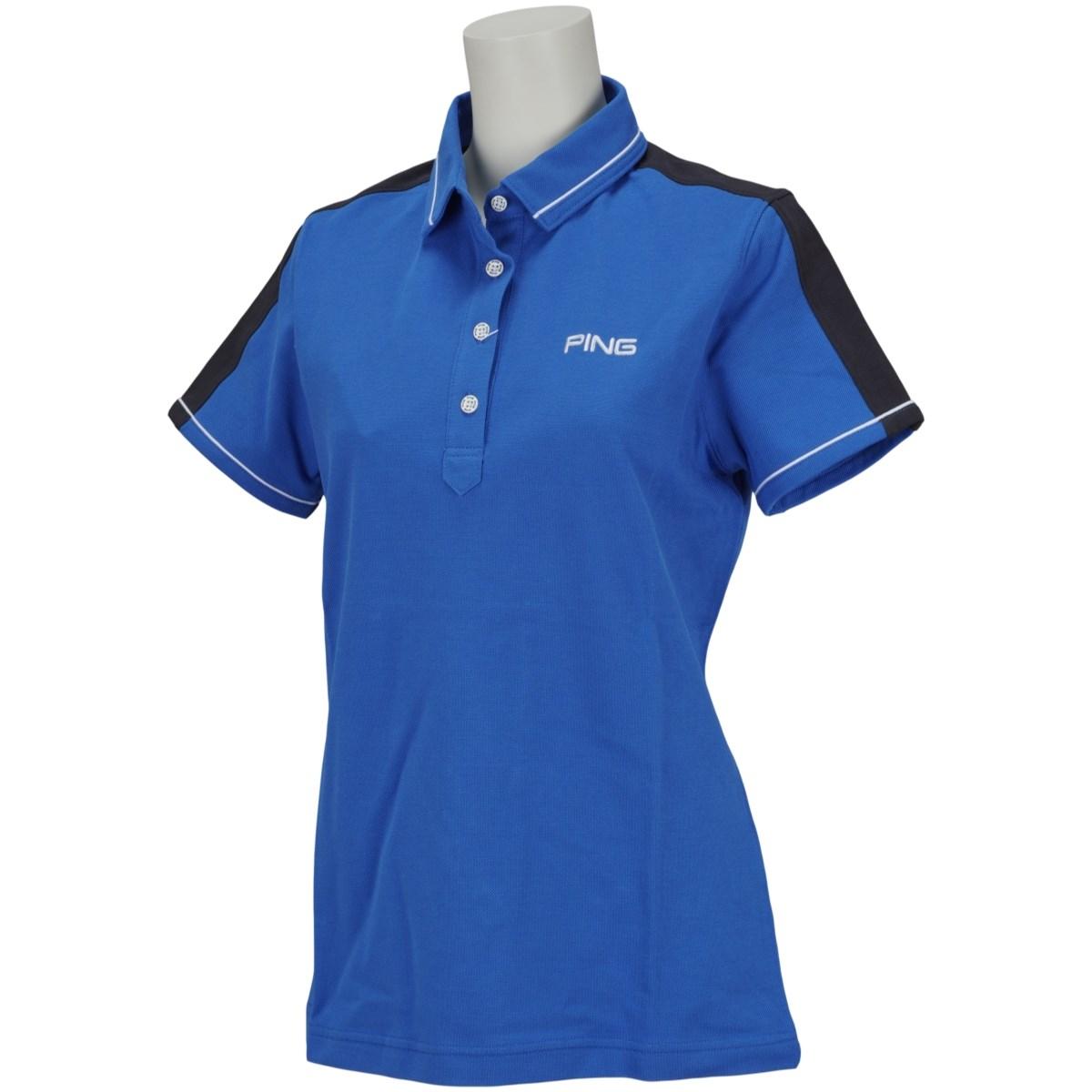 ピン PING 半袖ポロシャツ S ブルー 111 レディス