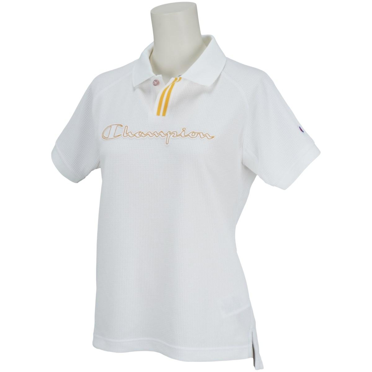 チャンピオンゴルフ Champion GOLF ストレッチワッフル 半袖ポロシャツ L オフホワイト 020 レディス